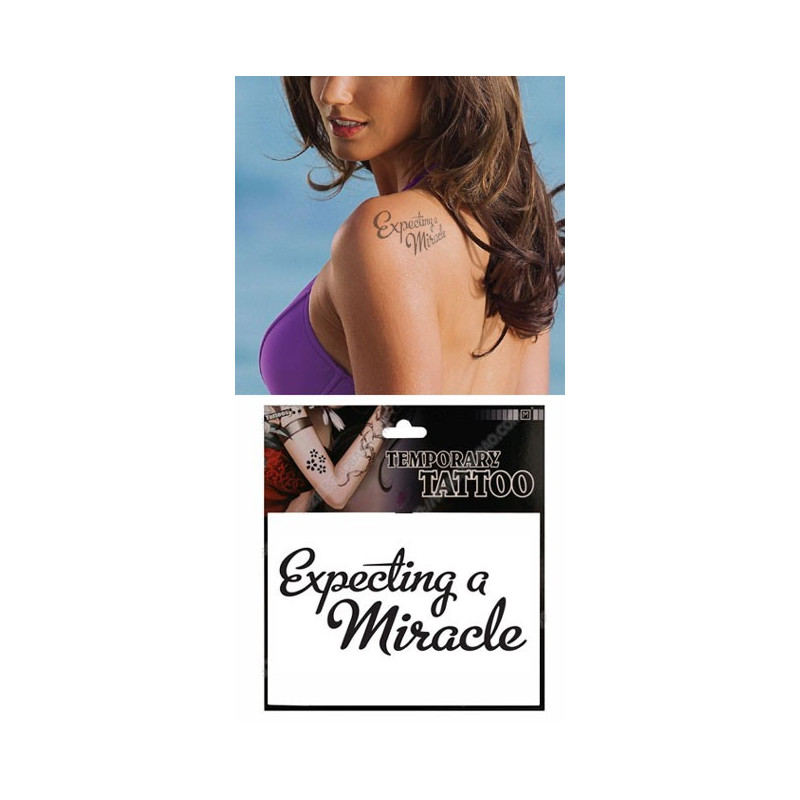 Tatouages Temporaires Lettres Expecting a Miracle