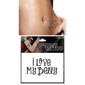 Tatouages Temporaires Lettres I love my belly