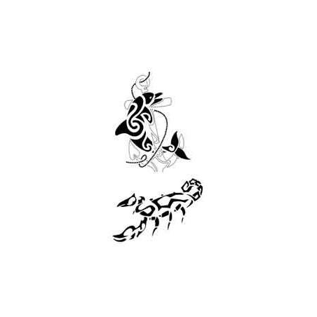 Tatouage Animaux Maori et Polynesien autocollant