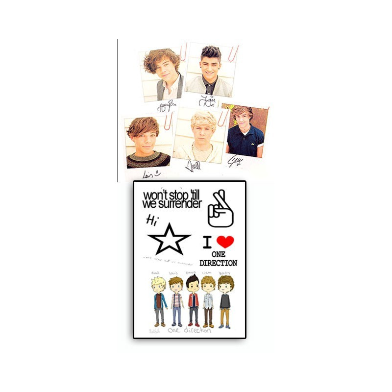 One Direction tattoos temporaires