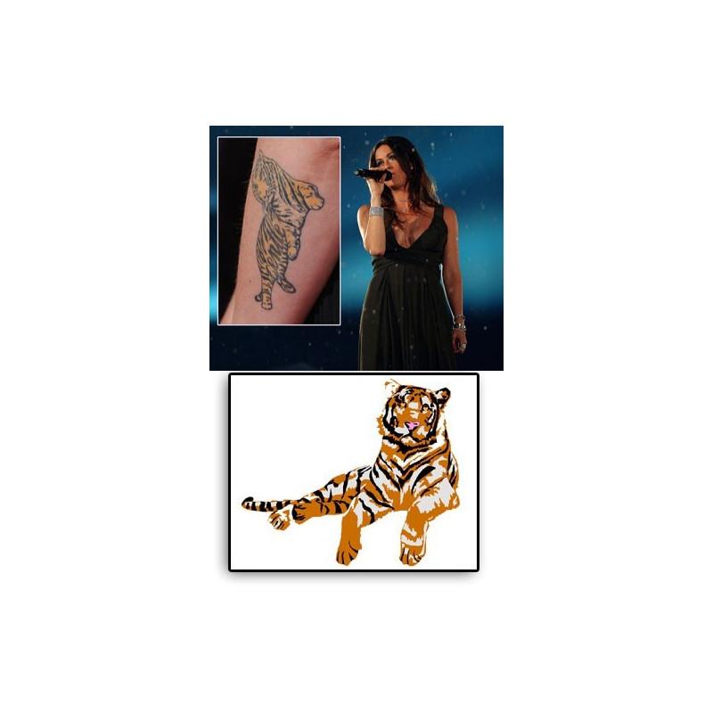Alanis Morissette tattoos temporaires Tigre