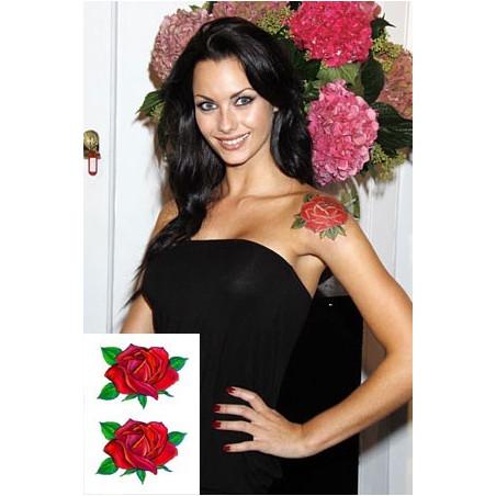 Jessica Jane Clement tatouage temporaire Roses