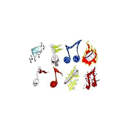 Tatouage Musique autocollant