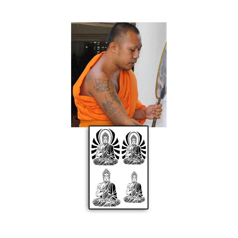 Tatouage Bouddha autocollant