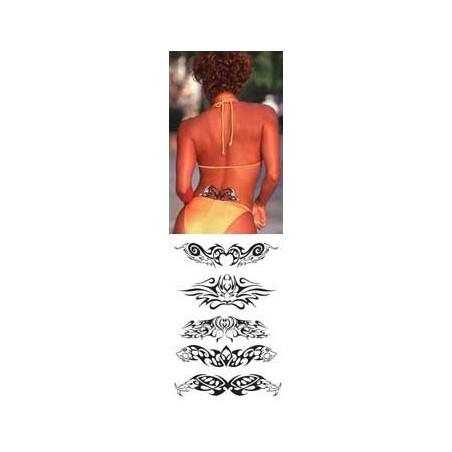 Tatouage autocollant bas de dos Tribal