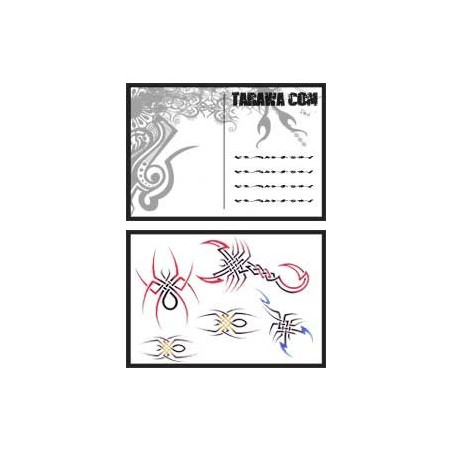 Carte postale Scorpion tatouage temporaire