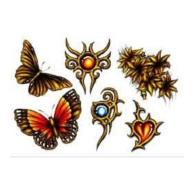 Tattoos temporaires Papillons tribal