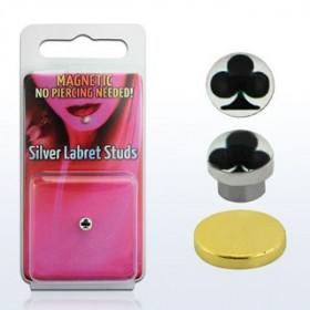Faux Piercing magnétique aimanté logo As de Trèfle pour le labret le nez et les oreille