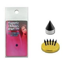 Faux piercing magnétique Spike pointe titane noir pour labret oreille et nez