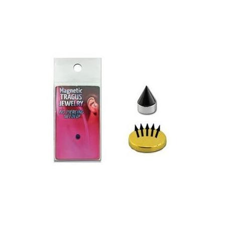 Faux piercing magnétique Spike noir