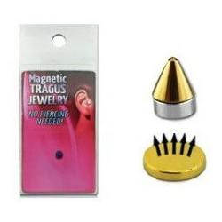 Faux piercing magnétique Spike Doré
