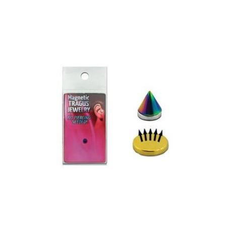 Faux piercing magnétique Spike couleur Fioul