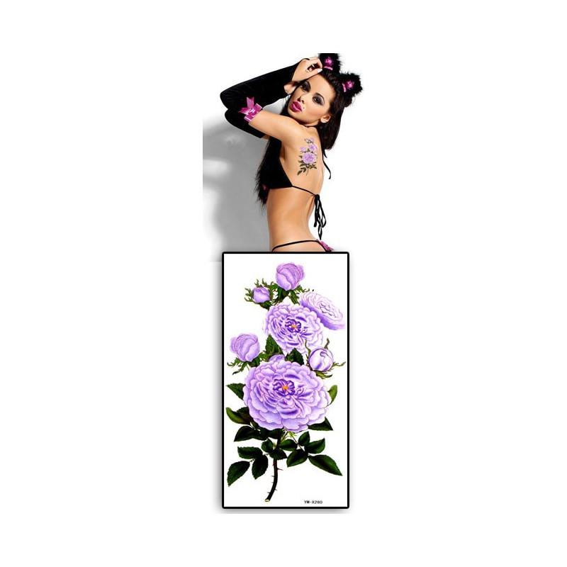 Tatouage temporaire Fleurs violettes