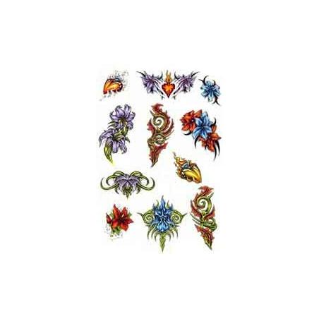 Tatouage Fleur Tribal autocollant