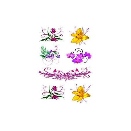 Tattoo Fleur autocollant