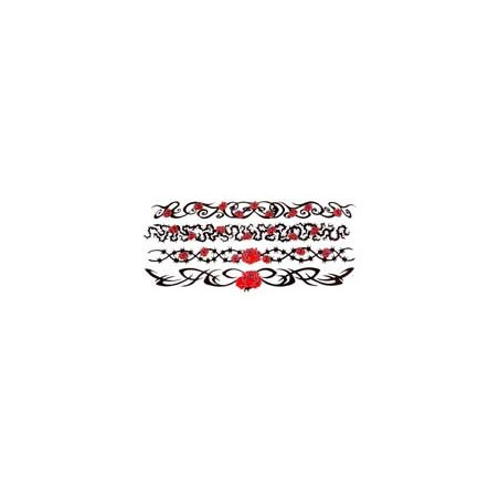 Tatouage Rose bracelet autocollant
