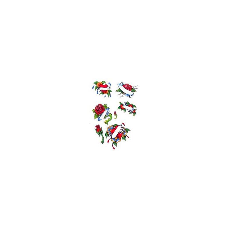 Tatouage Rose autocollant