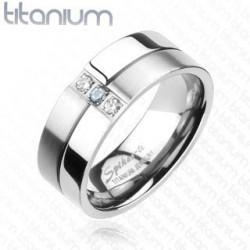 Bague anneau homme titane