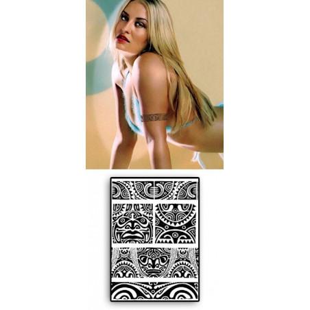 Tattoos temporaires bracelets TIKI Maori Polynesiens