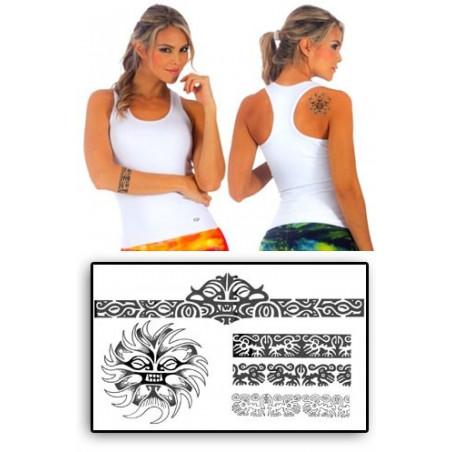 Tattoos temporaires bracelets Soleil Maori Polynesiens