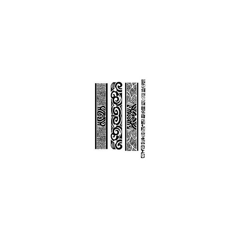 Tatouages Bracelets Maori et Polynesien autocollants 014
