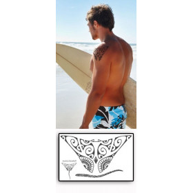 Tattoos temporaires Raie Manta Maori Polynesiens