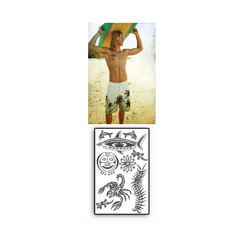 Tattoos temporaires Ocean Maori Polynesiens