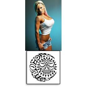 Tattoos temporaires Soleil Lune Maori Polynesiens