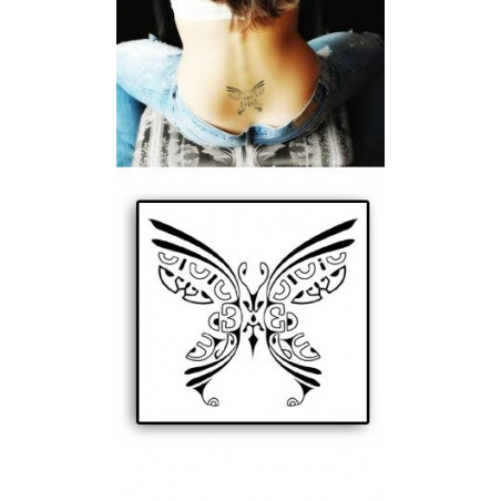 Tattoos temporaires Papillon Maori Polynesiens