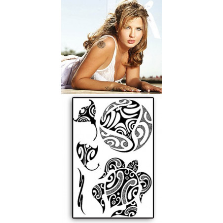 Tattoos temporaires Papillon Polynesiens Raie Tortue