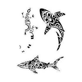 Tatouage Polynesien et Hawaien autocollant