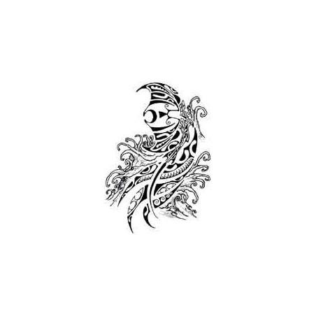 Tattoo Polynesien Raie et vagues