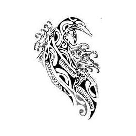 Tattoo Polynesien Dauphin et vagues