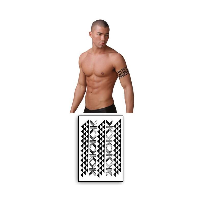 Tatouage Temporaire Maori Bracelets noirs