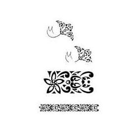 Tatouage Maori Raie et Bracelet autocollant