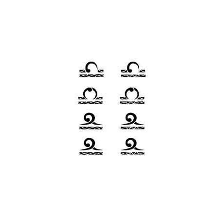 Tatouage Maori Alphabet autocollant