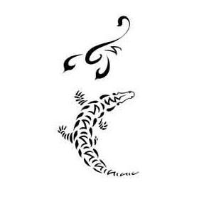Tatouage Maori Crocodille et Scorpion autocollant
