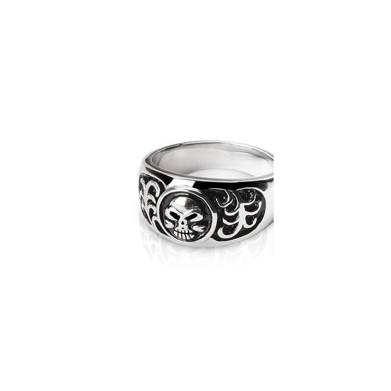Bague anneau acier chirurgical inoxydable Skull motif tête de mort