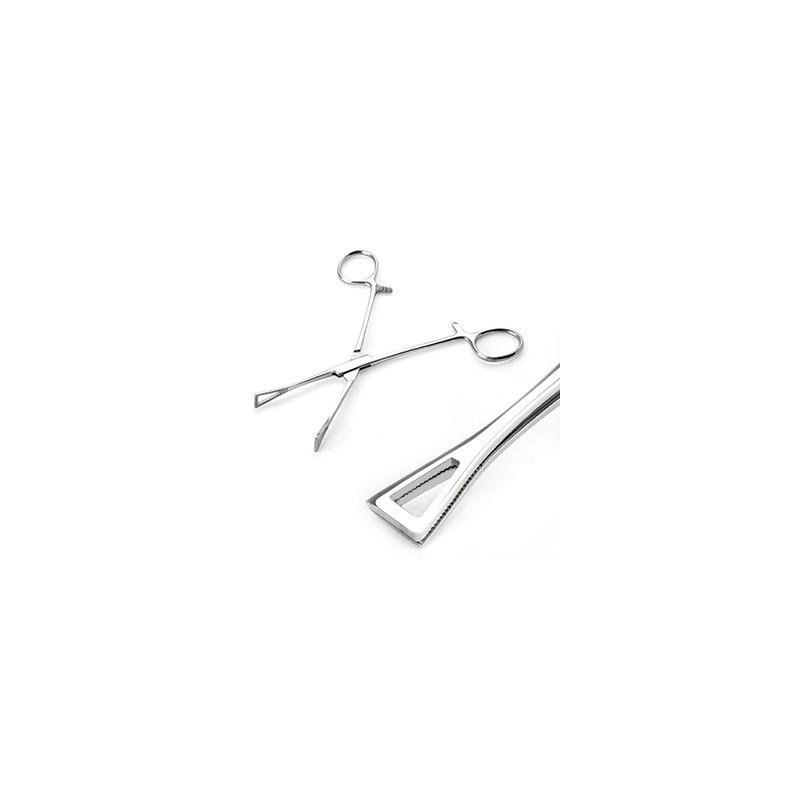 Forceps pince en inox acier chirurgical pour Piercing en forme de triangle