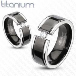 Bague anneau Homme titane noir