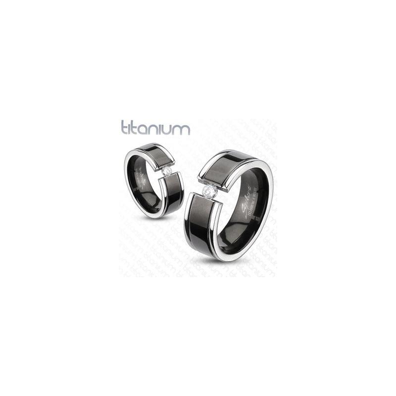 Bague anneau pour homme en titane couleur noir haute resistance