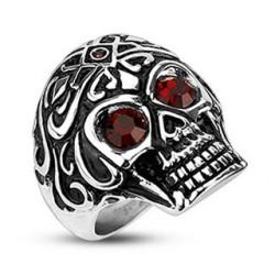 Bague Skull Tête de mort tribal