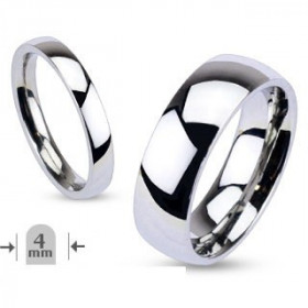 Bague Aliance 4mm en acier inoxydable bague anneau pour homme pas cher