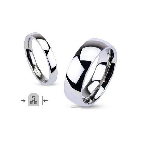 Bague anneau femme de 5mm en acier inoxydable