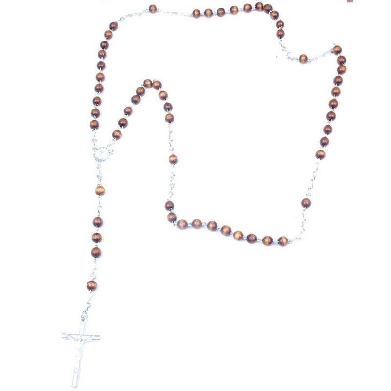 vente de Chapelet mode tendance avec perle en bois naturel pas cher