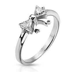 Bague anneau femme noeud cristal
