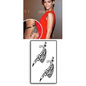 Rihanna Maori Main Tattoos temporaires