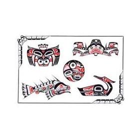 Haida Tattoo autocollant