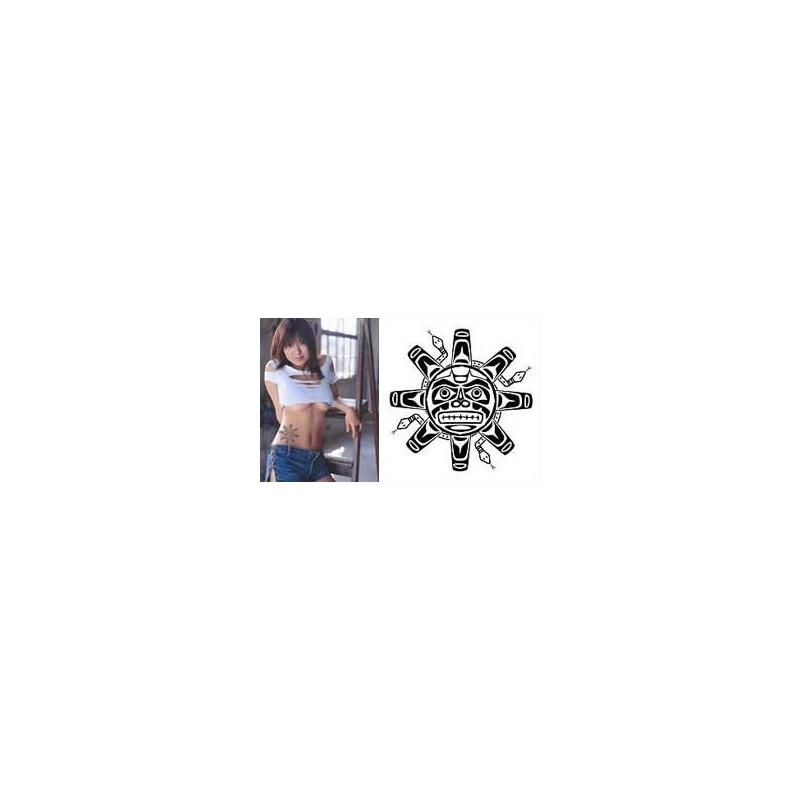Tatouage Haida Soleil geant autocollant