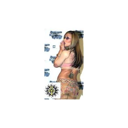 Anastasia Tattoos soleil tribal